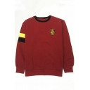 Crew Neck Long Sleeve Popular Harry Potter University Logo Print Pullover Unisex Sweatshirt