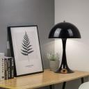 Black Finish Dome Table Lamp Designers Style Metallic Single Light Table Light for Study Room