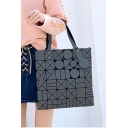 Fashion Geometric Zip Placket Tote Bag Shoulder Bag