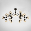 Designers Style Modo Large Chandelier Metal Multi Light Suspension Hanging Light