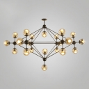 Clear Glass Modo Chandelier Contemporary Multi Light Decorative Ceiling LED Light for Hall