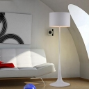 Pure White Round Floor Light Modern Designers Style Decorative Floor Lamp for Sitting Room