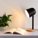Simplicity Dome Shade Table Light Metal Desk Light in Matt Black for Study Room