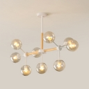 Branch Chandelier Light Modern Chic Glass 9 Light Hanging Light for Exhibition Hall