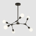 Modo Suspension Lamp Simplicity Modern Frosted Glass 6 Light Chandelier Light for Bedroom