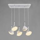 Adjustable 5-LED Cluster Pendant Light Stylish Modern Metal Drop Light in White Third Gear