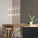 Modern Spire LED Cluster Pendant Light Acrylic Multi Light Hanging Lamp in Brown for Foyer