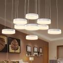 Acrylic Orbicular Hanging Light Simplicity Multi Light Island Light for Restaurant