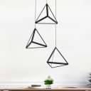 Silicon Gel Triangle Hanging Light Modern Design 3 Light Decorative Pendant Light