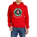 Hot Popular Circle Letter STAR WARS COFFEE Logo Print Regular Fitted Hoodie for Men