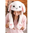 Tik Tok Kpop Moving Ear White Rabbit Hat Cap