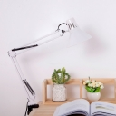 Metallic Swing Arm Desk Light Modern Fashion 1 Light Desk Lamp in White for Library