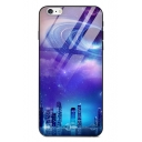 Cool Stylish Galaxy Planet Print Glass Mobile Phone Case for iPhone
