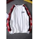 Popular Letter WOTUOMAN Print Chest Long Sleeve Round Neck Hip Hop Oversized Sweatshirt