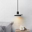 Ceramic Round LED Pendant Lights Post Modern Designers Hanging Lamp in Gold/Matte Black 8