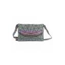 Luminous Geometric Laser Retro Envelope Shoulder Bag