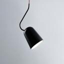 Elongated Dome Pendant Light Simplicity Steel 1 Light Ceiling Light in Black for Bedroom Kitchen