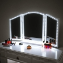 Stick-on LED Strip Light Brightness Adjustable DIY Vanity Mirror Lights with USB Charger