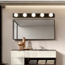 Multi Light Open Bulb Vanity Light Hollywood Style Mirror Light in Black for Screw Base Light Bulb