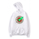Unique Fashion Circle Letter PLANET EXPRESS Rocket Print Long Sleeve Loose Fit Hoodie