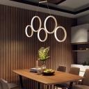 Circle Ring Hanging Light Minimalist Metal Multi Light Suspension Light for Coffee Shop