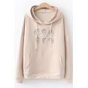 New Stylish Cartoon Angel Embroidered Long Sleeve Loose Fit Cotton Hoodie