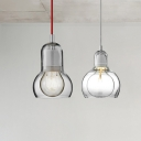 Clear Glass Gourd Hanging Light Stylish Modern 1 Light Pendant Lamp for Hallway Corridor