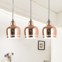Rose Gold Bell Pendant Light Modern Chic Metallic Single Light Hanging Light for Living Room