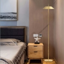 Designers Style Coolie Floor Light Steel Single Light Floor Lamp in Gold for Bedroom