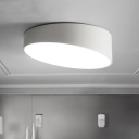 Designers Style Geometric Ceiling Light Acrylic Flush Mount Lighting in White for Bedroom