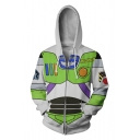 New Arrival 3D Cool Colorblock Cosplay Long Sleeve Casual Zip Hoodie