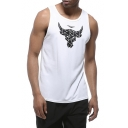Cool Bull Logo Printed Outdoor Quick Dry Basketball Running Loose Tank Top for Guys