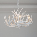Open Bulb Pendant Light Natural Designers Style Resin 6 Light Art Deco Ceiling Light