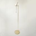 Large Crane Shape Standing Light Contemporary Plastic Floor Light for Living Room