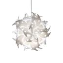 Jigsaw Style Suspended Light Contemporary Plastic Single Head DIY Pendant Light in White