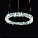 Crystal Circle Ring Hanging Lamp Modern Design Decorative Drop Ceiling Lighting