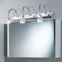 Bar Cosmetic Vanity Light Contemporary Adjustable Stainless 2/3/4 Lights Wall Mount Fixture