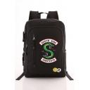 New Popular Letter SOUTH SIDE Snake Logo Printed Large Capacity School Backpack 28*11*42cm