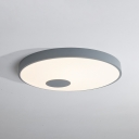 Black/Gray Ultra Thin Ceiling Lamp Modern Fashion Acrylic LED Flush Mount Lighting for Sitting Room