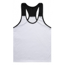 Summer Cool Colorblock Scoop Neck Sleeveless Racerback Bodybuilding Fitness Muscle Tank for Guys
