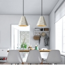 Concreted Geometric Ceiling Lamp Simple Designers Style LED Ceiling Light in White