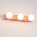 DIY Multi Light Strip Vanity Light Modern Colorful Third Gear Makeup Mirror Lighting in Orange