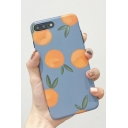 Retro Orange Pattern Fashion Frosted Soft Silicone iPhone Case
