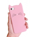 Cute Cartoon Cat Design Fashion Silicone Mobile Phone Case for iPhone