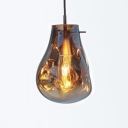 1 Bulb Melt Ceiling Pendant Light Post Modern Glass Lighting Fixture in Gold for Sitting Room