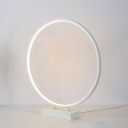 Circular Ring Standing Table Lamp Contemporary Acrylic Decorative Table Lamp in Warm/White