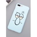 New Stylish Light Blue Cute Cartoon Pattern Frosted Hard iPhone Case