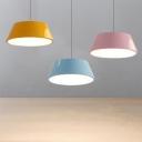 Drum LED Pendant Lights Macaroon Nordic Style 1 Light LED Hanging Lamp 8