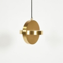 Round Hanging Light in Post Modern Style Aluminium Black/Gold Finish LED Pendant Lamp