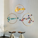 Circle Rings LED Pendant Lights Post Modern Designers Agate 1 Light Suspension Lighting